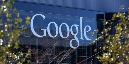 MOUNTAIN VIEW, CA - JANUARY 30:  A sign is posted on the exterior of Google headquarters on January 30, 2014 in Mountain View, California. Google reported a 17 percent rise in fourth quarter earnings with profits of $3.38 billion, or $9.90 a share compared to $2.9 billion, or $8.62 per share one year ago.  (Photo by Justin Sullivan/Getty Images)