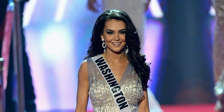LAS VEGAS, NV - JUNE 16:  Miss Washington USA Cassandra Searles is introduced during the 2013 Miss USA pageant at PH Live at Planet Hollywood Resort & Casino on June 16, 2013 in Las Vegas, Nevada.  (Photo by Ethan Miller/Getty Images)