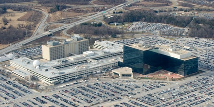 The National Security Agency, headquarters at Fort Meade, Maryland photographed on January 29, 2010.
