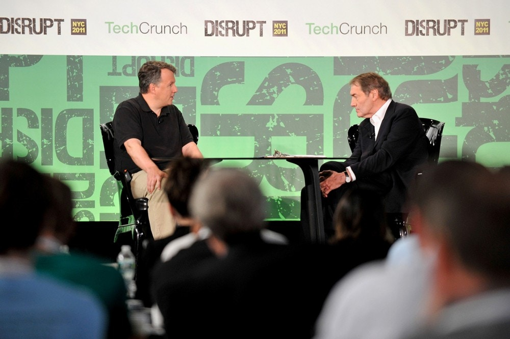 NEW YORK, NY - MAY 24:  Paul Graham of Y Combinator and Charlie Rose (R) during  TechCrunch Disrupt New York May 2011 at Pier 94 on May 24, 2011 in New York City.  (Photo by Joe Corrigan/Getty Images for AOL)