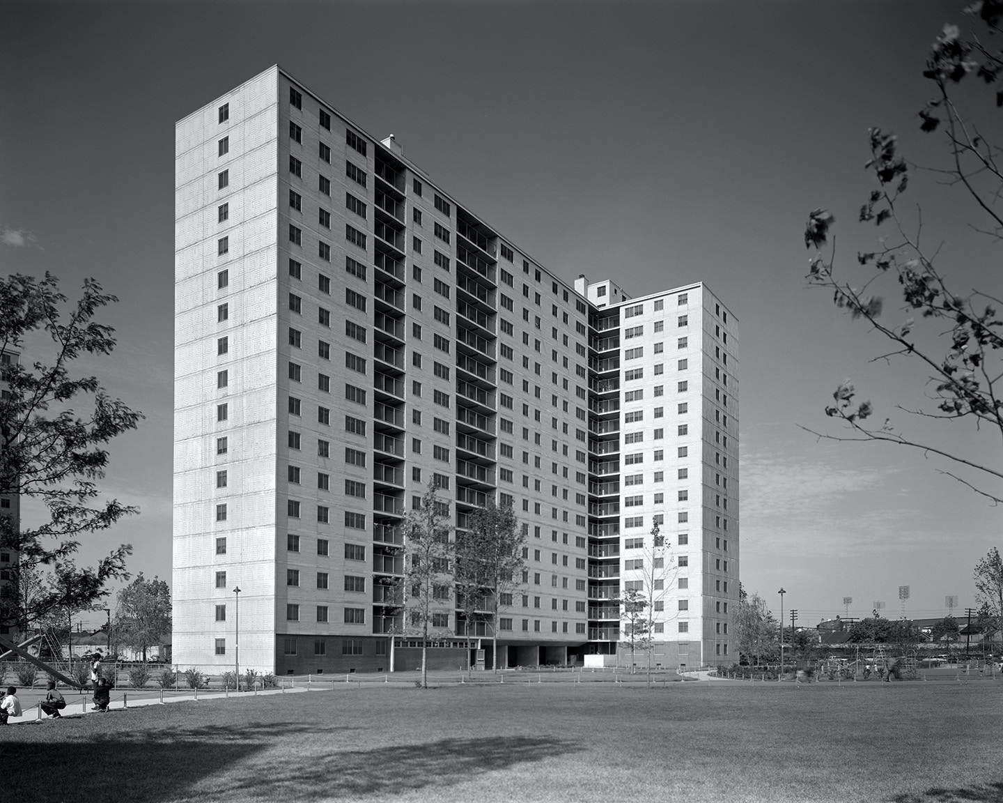 The Stateway Gardens housing project, in the Bronzeville neighborhood in Chicago's South Side, pictured in 1958.