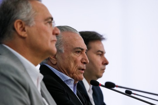 Coletiva no Planalto