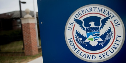 The U.S. Department of Homeland Security (DHS) seal stands at the agency's headquarters in Washington, D.C.