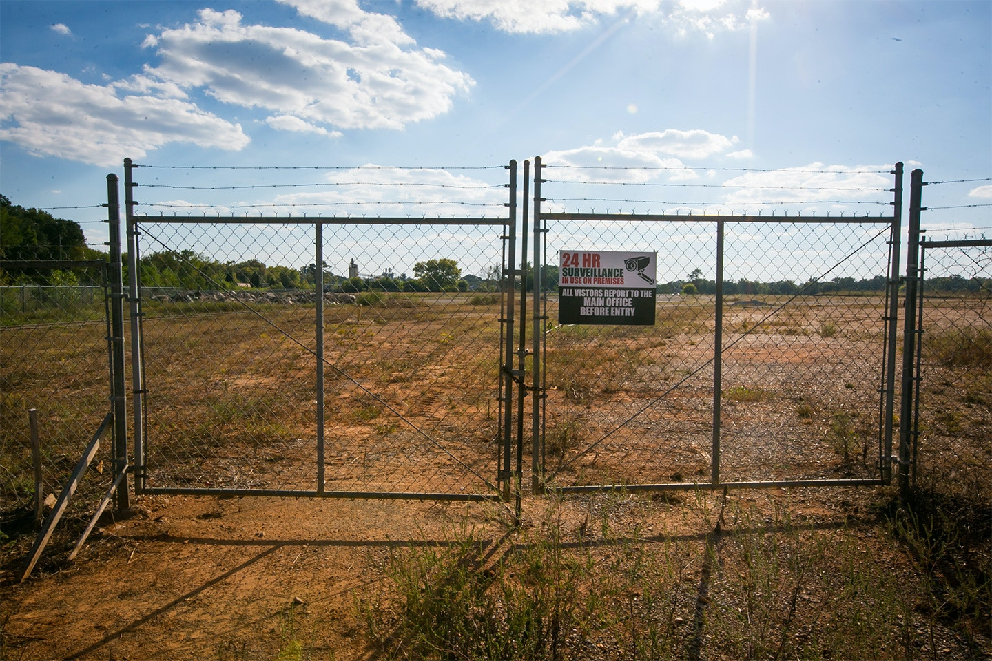 The old Kerr McGee site sits between 14th Avenue and the  now closed Sanderson Plumbing Products factory in Columbus, Mississippi. The property is now a superfund site.
