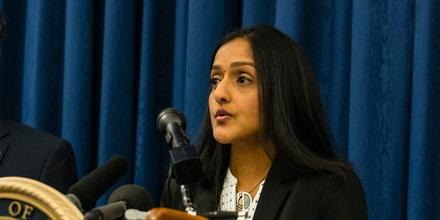 Deputy Assistant Attorney General Vanita Gupta speaks to reporters at a press conference on December 4, 2014.