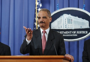 Attorney General Eric Holder speaks duri