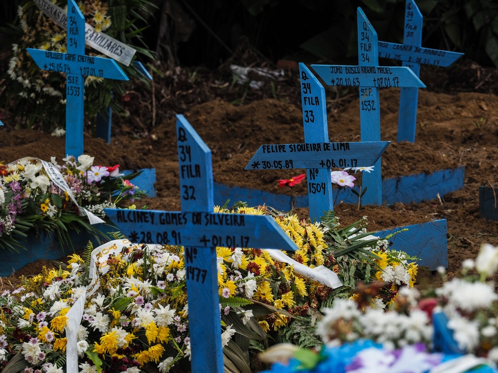 View of the graves at Nossa Senhora Aparecida Cemetery -also known as Taruma Cemetery- of the inmates killed in the recent riots in prisons, on January 9, 2017, in Manaus, Amazonas state, Brazil. At least four inmates were killed on the eve in a facility in Manaus, sending the number of violent prison fatalities over 100 in just one week. Prisons there -- and throughout Brazil -- are often under the de facto control of drug gangs, whose turf wars on the outside are also fought out among inmates. / AFP / RAPHAEL ALVES (Photo credit should read RAPHAEL ALVES/AFP/Getty Images)