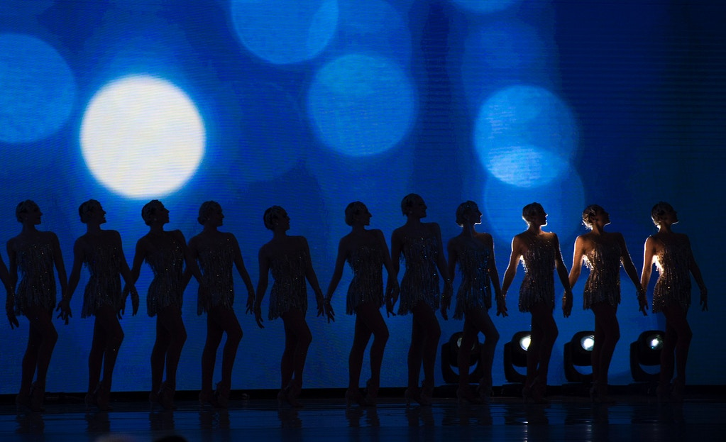 The Radio City Rockettes perform at the Liberty Ball at the Washington DC Convention Center following Donald Trump's inauguration as the 45th President of the United States, in Washington, DC, on January 20, 2017.  / AFP / MOLLY RILEY        (Photo credit should read MOLLY RILEY/AFP/Getty Images)
