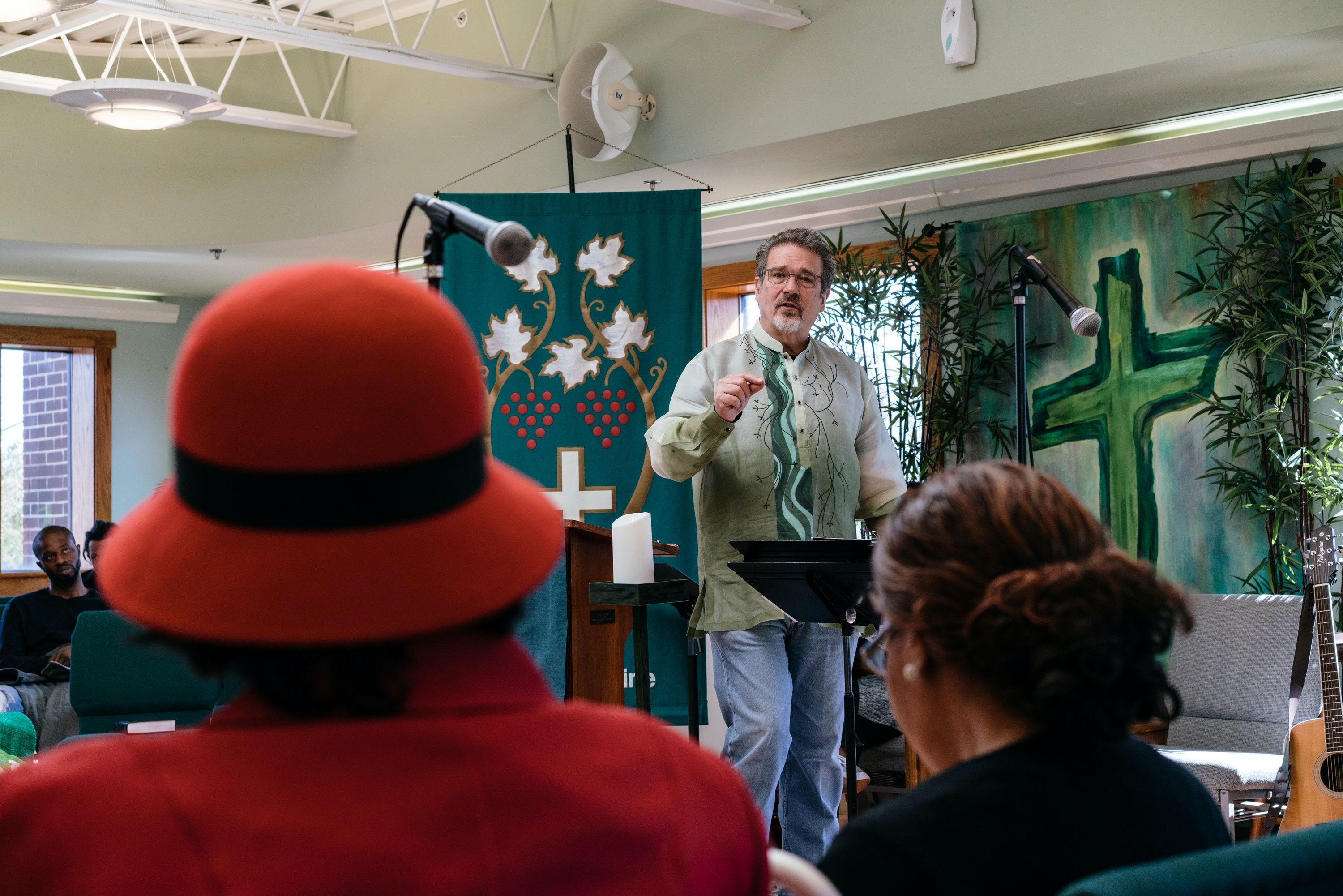 Pastor Keary Kincannon, gives a sermon at Rising Hope Mission Church in Alexandria, Va. on Feb 26, 2017. Kincannon will be present during President Trump's next address to the session of congress, a guest of Virginia Senator Mark Warner.