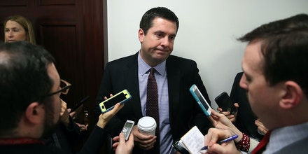 WASHINGTON, DC - FEBRUARY 14: Rep. Devin Nunes, Chairman of the House Permanent Select Committee on Intelligence speaks to reporters after attending the GOP weekly meeting at the U.S. Capitol on February 14, 2017 in Washington, DC.  (Photo by Mark Wilson/Getty Images)