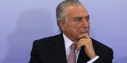 Brasília - Presidente Michel Temer na cerimônia de comemoração pelo Dia Internacional da Mulher, no Palácio do Planalto (Valter Campanato/Agência Brasil)