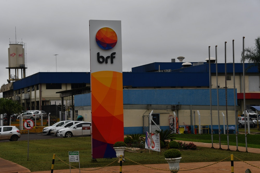 "General view of Brazilian food company BRF's plant, under investigations for products adulteration in Chapeco, Santa Catarina state, Brazil on March 17, 2017.<br /><br /><br /><br /> Brazilian Federal police have dismantled, after two years of running the ""weak flesh"" operation, a vast network of adulterated food, involving major meat processing plants and inspectors who accepted bribes to approve products in bad condition for domestic consumption and exportation.  / AFP PHOTO / NELSON ALMEIDA        (Photo credit should read NELSON ALMEIDA/AFP/Getty Images)"