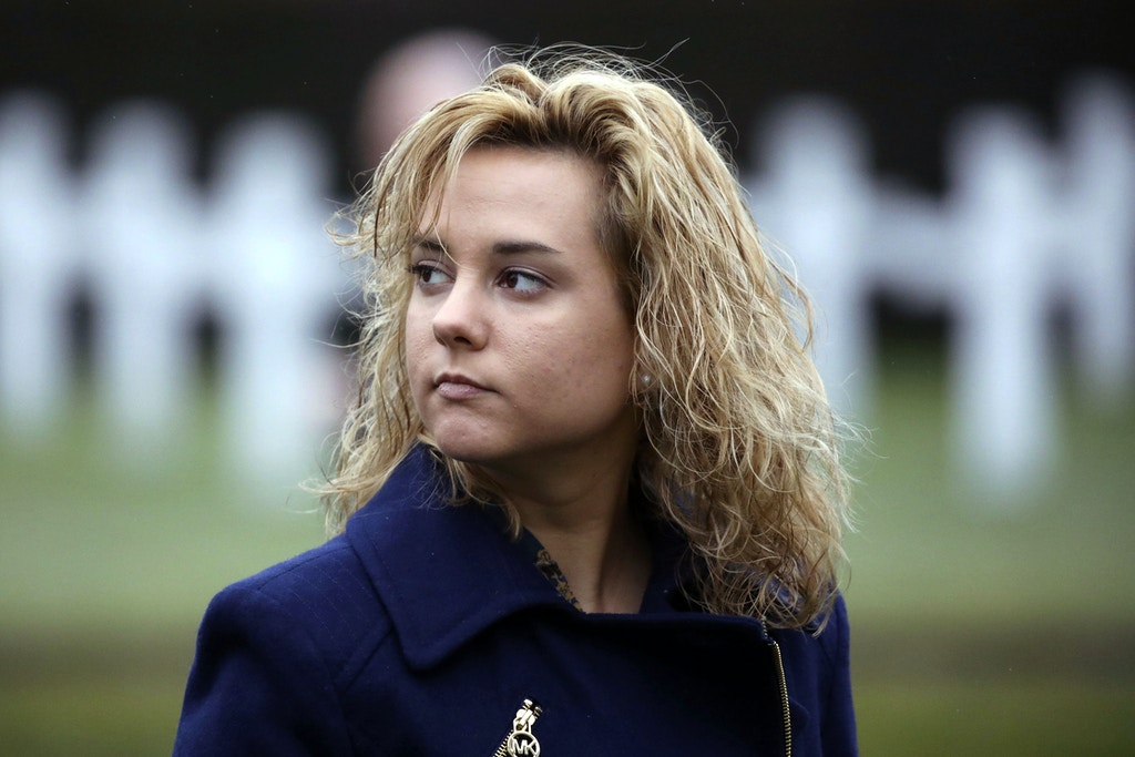 Charlotte Pence, daughter of United States Vice President Mike Pence, visits the Flanders Field American Cemetery and Memorial in Waregem, Belgium on Monday, Feb. 20, 2017. The cemetery is the smallest of the eight permanent American cemeteries in Europe that commemorate the dead of the First World War. (AP Photo/Olivier Matthys)