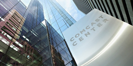 A view of the Comcast Center in Philadelphia, headquarters of Comcast Cable, on Aug. 18, 2015.