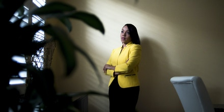 Aramis Ayala, who beat out the incumbent Democratic candidate for Florida state attorney in the primaries, in Windermere, Fla., Oct. 31, 2016. Black lawyers, racial justice groups and liberal hedge fund billionaire George Soros are working to increase the number of black prosecutors elected, as a response to the killings of black people by police. (Zack Wittman/The New York Times)