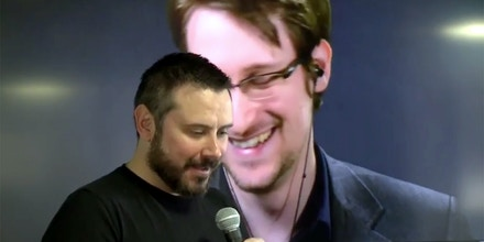 The Intercept's Jeremy Scahill interviews Edward Snowden on Facebook Live at SXSW on March 14, 2017.