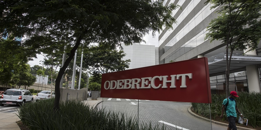 View of the headquarters of Brazilian construction giant Odebrecht SA in Sao Paulo, Brazil on March 2, 2017.For years, Brazil-based Odebrecht, one of the region's biggest construction companies, landed huge public works contracts across Latin America by paying hundreds of millions of dollars in bribes. / AFP PHOTO / NELSON ALMEIDA (Photo credit should read NELSON ALMEIDA/AFP/Getty Images)