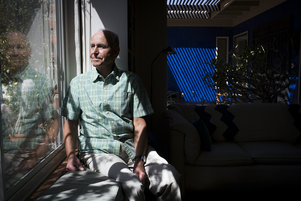 "Armin Walser, the chemist whose team invented midazolam while working for Hoffmann-La Roche, a Swiss pharmaceutical company, in the 1970s, at home in Tucson, Ariz., March 9, 2017. Decades after the drug entered the market, the product has become central to executions around the country and the debate that surrounds capital punishment in the U.S. ""I didn't make it for the purpose,"" said. Walser. ""I am not a friend of the death penalty or execution."" (Caitlin O'Hara/The New York Times)"