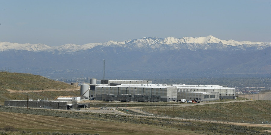 Security fences surround the National Security Agency's (NSA) Utah data collection center in Bluffdale, Utah near Salt Lake City on April 12, 2017. The 1.5 billion USD data center, thought to be the largest in the world, with a reported size to be on the order of an exabytes or larger, supports the Comprehensive National Cybersecurity Initiative (CNIC) of the United States Government. / AFP PHOTO / GEORGE FREY (Photo credit should read GEORGE FREY/AFP/Getty Images)