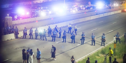 Black Lives Matter protesters shut down Interstate 94 on July 9, 2016  in Saint Paul to protest the police murder of Philando Castile. (Photo by Annabelle Marcovici) *** Please Use Credit from Credit Field *** *** Please Use Credit from Credit Field ***