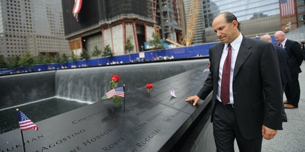 NEW YORK, NY - SEPTEMBER 11:   Howard Lutnick, head of Cantor Fitzgerald who lost more than 100 employees, is seen at the memorial during tenth anniversary ceremonies of the September 11, 2001 terrorist attacks at the World Trade Center site September 11, 2011 in New York City. The nation is commemorating the tenth anniversary of the terrorist attacks which resulted in the deaths of nearly 3,000 people after two hijacked planes crashed into the World Trade Center, one into the Pentagon in Arlington, Virginia and one crash landed in Shanksville, Pennsylvania.    (Photo by  David Handschuh-Pool/Getty Images)