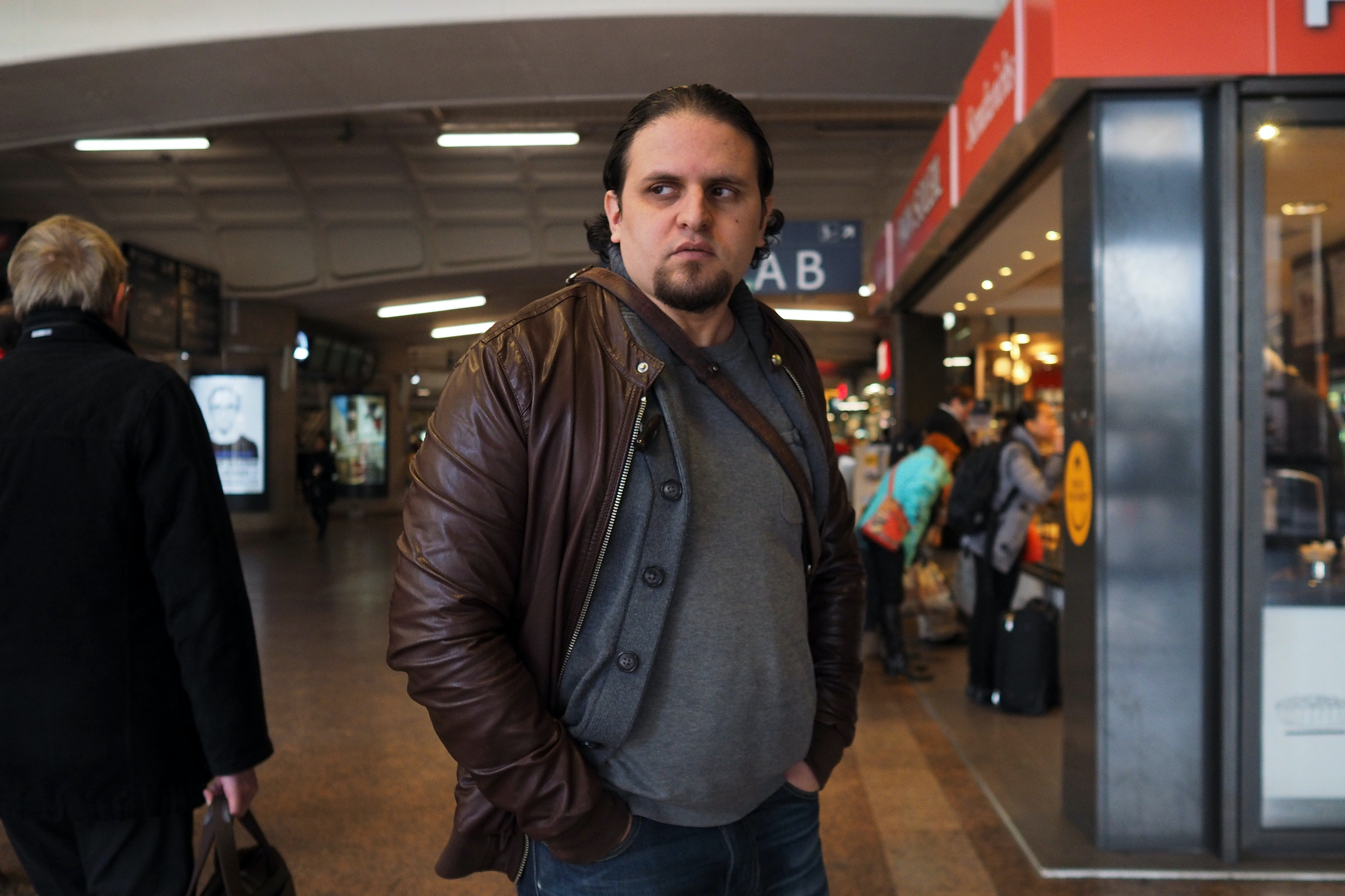 Former Guantanamo detainee Mourad Benchellali stands in the Gare de Lyon  in  Lyon, France, March 7, 2017. Benchellali attended an Al-Qaeda training camp in Afghanistan in 2001, but he maintains he was tricked into joining the camp by his older brother, who told him he would be going on vacation.