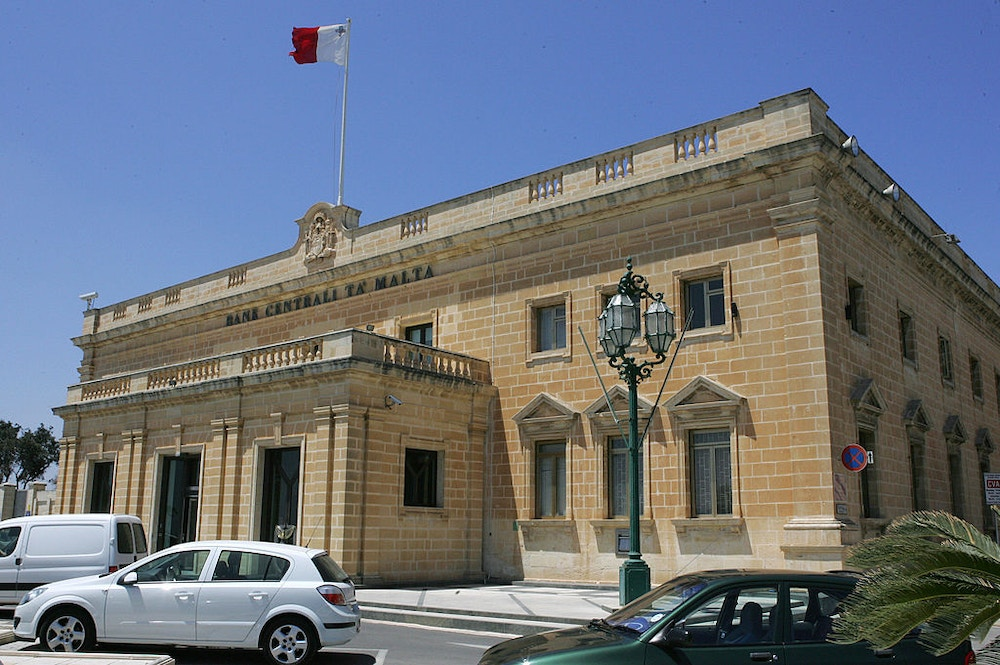 Malta (Valetta), MALTA: Picture taken 10 May 2007 in Malta of Valletta's Central Bank of Malta.  AFP PHOTO / ANDREAS SOLARO (Photo credit should read ANDREAS SOLARO/AFP/Getty Images)