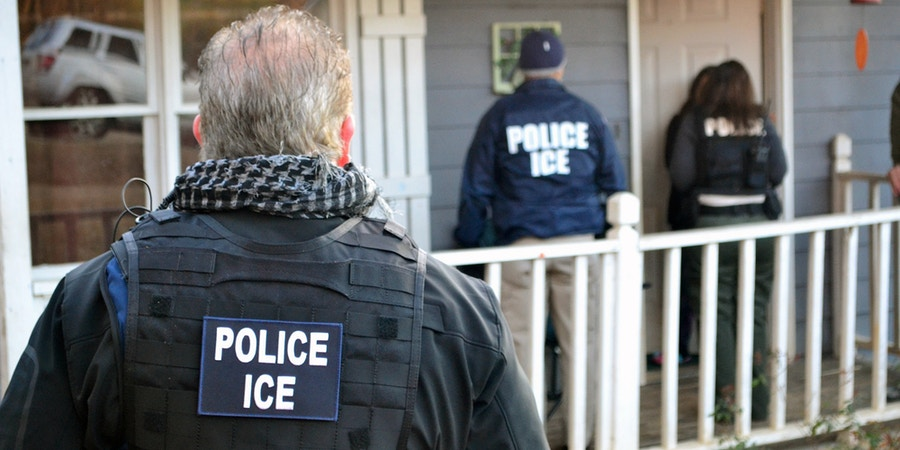 ATLANTA, GA - FEBRUARY 9: In this handout provided by U.S. Immigration and Customs Enforcement,  Foreign nationals were arrested this week during a targeted enforcement operation conducted by U.S. Immigration and Customs Enforcement (ICE) aimed at immigration fugitives, re-entrants and at-large criminal aliens February 9, 2017 in Atlanta, Georgia.  (Photo by Bryan Cox/U.S. Immigration and Customs Enforcement via Getty Images)