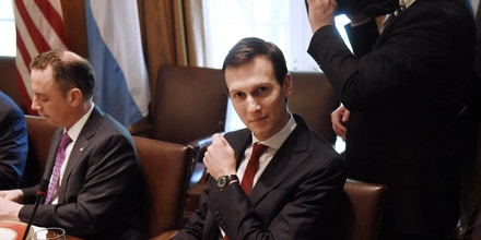 Jared Kushner, senior White House adviser, attends a luncheon with Mauricio Macri, Argentina's president, and U.S. President Donald Trump, not pictured, at the White House in Washington, D.C., U.S., on Thursday, April 27, 2017. Trumptold his Argentine counterpart that he is reviewing the issue of lemon imports from the South American country after his administration halted a measure to allow renewed shipments to the U.S. Photographer: Olivier Douliery/Pool via Bloomberg