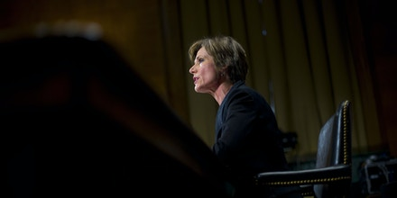 Deputy Attorney General nominee Sally Quillian Yates testifies on Capitol Hill in Washington, Tuesday, March 24, 2015, before the Senate Judiciary Committee hearing on  her nomination. (AP Photo/Pablo Martinez Monsivais)