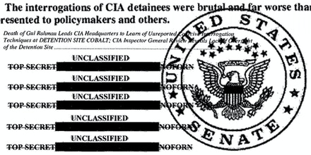Excerpts from the Senate Select Committee on Intelligence, Committee Study of the Central Intelligence Agency's Detention and Interrogation Program