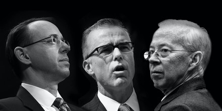 From Left to Right: Rod J. Rosenstein, Andrew G. McCabe, and Dana Boente.