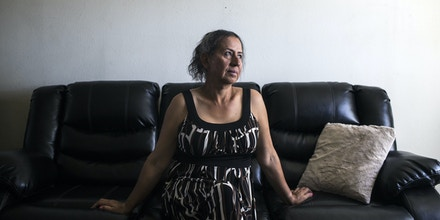 Former Uber driver, Rachel Galindo stands for a portrait in her home on April 30, 2017, in Los Angeles, California. As a transgender person, Galindo says she faced a lot of discrimination while driving for the company.