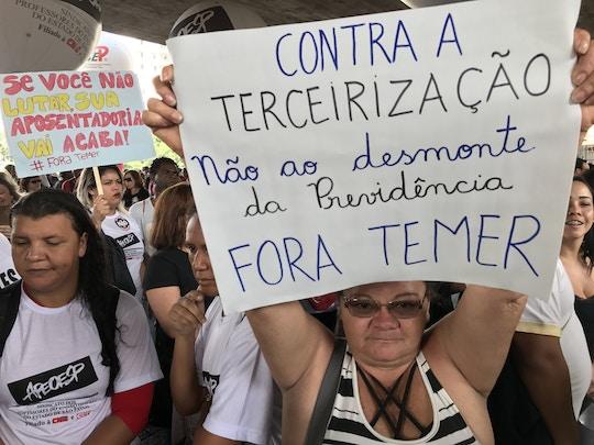 31/03/2017- São Paulo- SP, Brasil- Ato contra a reforma da previdência na avenida Paulista.Foto: Roberto Parizotti / CUT