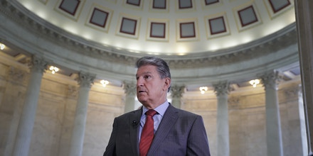Sen. Joe Manchin, D-W. Va., waits for a television news interview on Capitol Hill in Washington, Tuesday, June 6, 2017. (AP Photo/J. Scott Applewhite)
