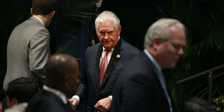 MIAMI, FL - JUNE 15:  Secretary of State Rex Tillerson attends the Conference on Prosperity and Security in Central America at the Florida International University on June 15, 2017 in Miami, Florida. The conferance brought together government and business leaders from the United States, Mexico, Central America, and other countries to address the economic, security, and governance challenges and opportunities in El Salvador, Guatemala, and Honduras.  (Photo by Joe Raedle/Getty Images)