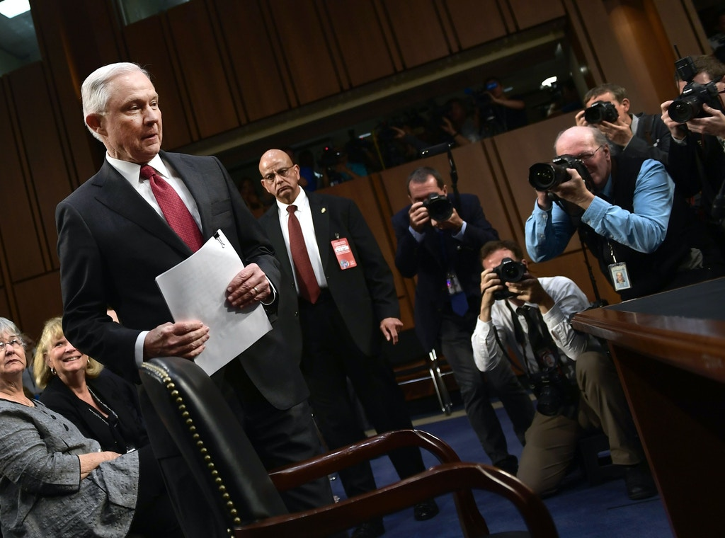 Attorney General Jeff Sessions arrives to testify during a US Senate Select Committee on Intelligence hearing on Capitol Hill in Washington, DC, June 13, 2017. / AFP PHOTO / Brendan Smialowski        (Photo credit should read BRENDAN SMIALOWSKI/AFP/Getty Images)