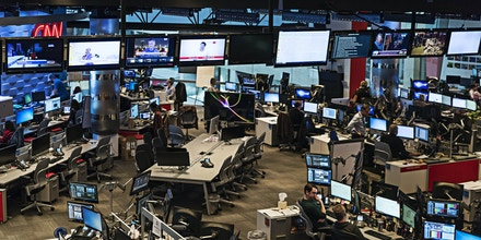 ATLANTA, GEORGIA, UNITED STATES - 2015/11/14: Newsroom at CNN World Headquarters. (Photo by John Greim/LightRocket via Getty Images)