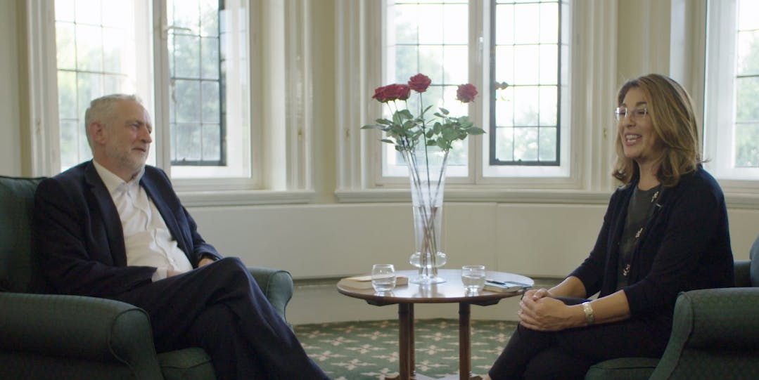Video: Naomi Klein and Jeremy Corbyn Discuss How to Get the World We Want