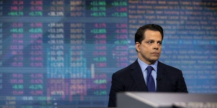 Anthony Scaramucci, founder of SkyBridge Capital LLC, listens during a Bloomberg Television interview in New York, U.S., on Tuesday, April 18, 2017. Scaramucci discussed the Trump administration's approach to the Federal Reserve and state of the banking industry. Photographer: Victor J. Blue/Bloomberg via Getty Images