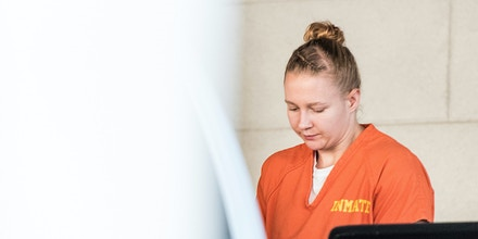 AUGUSTA, GA - JUNE 8: Reality Winner exits the Augusta Courthouse June 8, 2017 in Augusta, Georgia. Winner is an intelligence industry contractor accused of leaking National Security Agency (NSA) documents. (Photo by Sean Rayford/Getty Images)