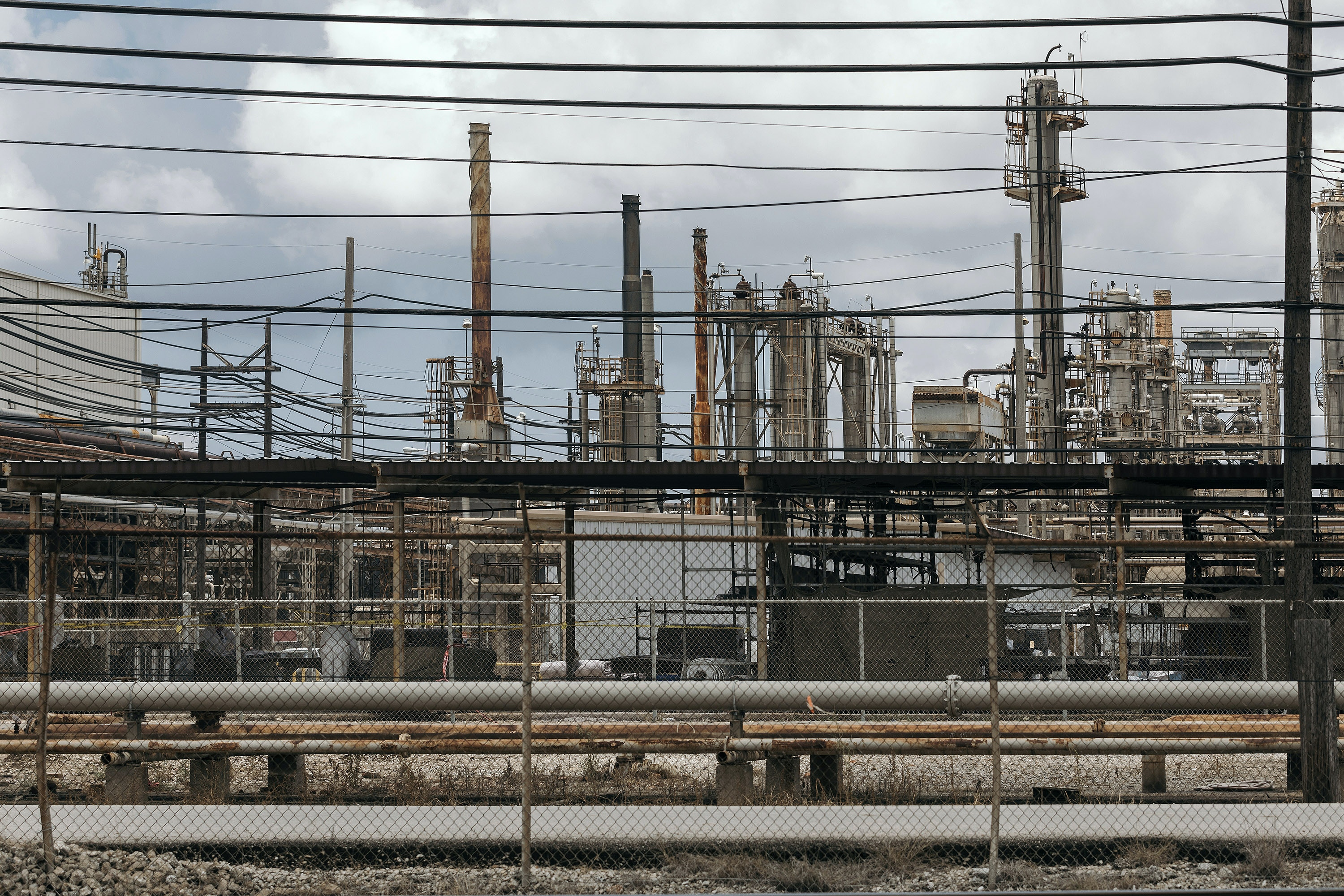 The Exxon refinery as seen from Gulf States Road, Tuesday, June 6th, 2017 in Beaumont, Texas.Todd Spoth for The Intercept
