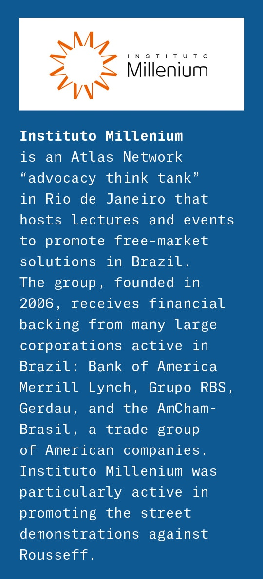 0c93a0306 Fernando Schüler, an academic and columnist associated with Instituto  Millenium, another Atlas think tank in Brazil, made the case another way.