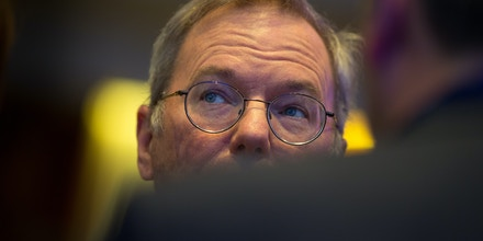 BERLIN, GERMANY - JUNE 09: Google Executive Chairman Eric Schmidt attends the CDU Economics Conference of the Economic Council on June 09, 2015 in Berlin, Germany. The Economic Council (Wirtschaftsrat der CDU e.V.) is a German business association representing the interests of more than 11,000 small and medium sized firms, as well as larger multinational companies. (Photo by Axel Schmidt/Getty Images)