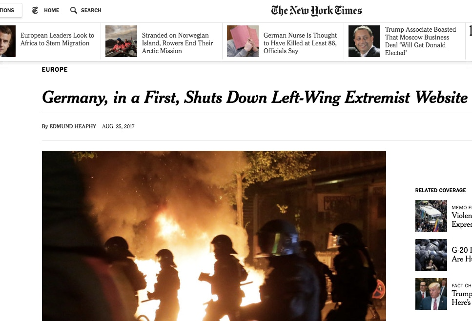 The Shutting Of This Left Wing Site Is Part A Long Tradition In Germany Where Any Ideas Deemed Threatening To Prevailing Order Can Be Banned