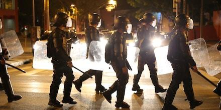 SÃO PAULO, SP, 04.09.2016: PROTESTOS-TEMER - Militantes das frentes