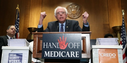 Sen. Bernie Sanders, I-Vt., speaks during a news conference on Capitol Hill in Washington, Wednesday, Dec. 7, 2016, to deliver over million petition signatures demanding that President-elect Donald Trump, House Speaker Paul Ryan, and Senate Majority Leader Mitch McConnell