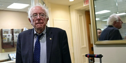 Sen. Bernie Sanders, I-Vt., walks on Capitol Hill in Washington, Monday, Sept. 25, 2017. (AP Photo/Susan Walsh)