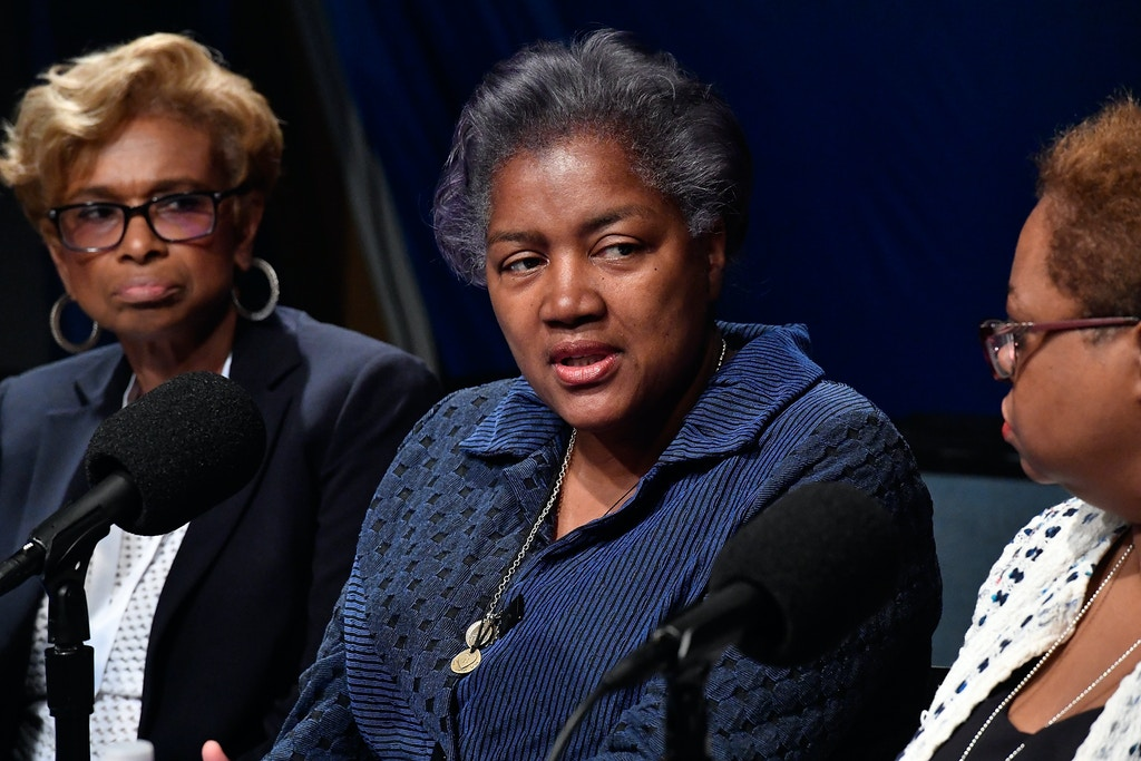 WASHINGTON, DC - MARCH 28:  Donna Brazile speaks during SiriusXM's Progress Channel Presents: For Colored Girls Who Have Considered Politics, A Women's History Month Panel featuring Minyon Moore, Leah Daughtry & Yolanda Caraway, hosted by Zerlina Maxwell at SiriusXM Studio on March 28, 2017 in Washington, DC.  (Photo by Larry French/Getty Images for SiriusXM)