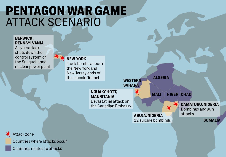 Des jeux de guerre des USA pour planifier une invasion de l'Afrique de l'Ouest en 2023